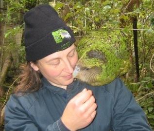 Sharing the kakapo love with Karin