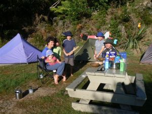 Camping is a fantastic family activity.