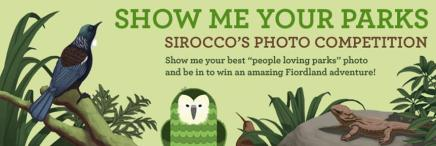 """Sirocco's """"Show Me Your Parks"""" contest banner image."""