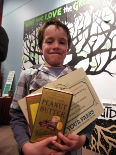 Image of Tyler Bishop, Age 7, the winner of the limerick competition.