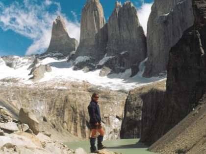 Thelma Wilson in the Torres del Paine National Park, Chile.