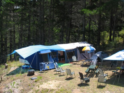 Herb's family campsite.