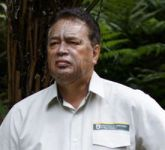Joe Harawira after the  tā moko.