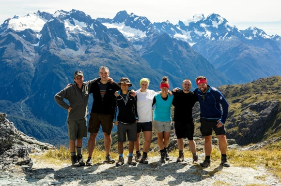 Chris and the Great Walker team on the Routeburn Track.