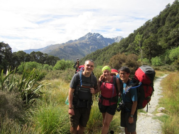 The Great Walkers on the Routeburn Track.