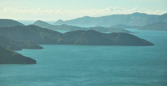 Stunning views of the Marlborough Sounds.