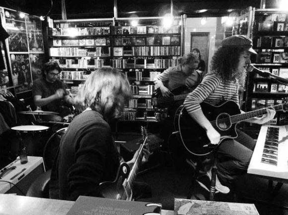 Ash & the Matadors in-store at Play-It-Again Records. Photo: Verity Kerr.