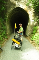 A tunnel on the Rimutaka Rail Trail.