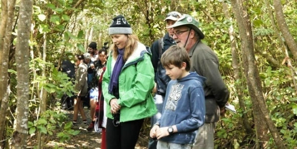 Lucy Lawless at Tiritiri Matangi.