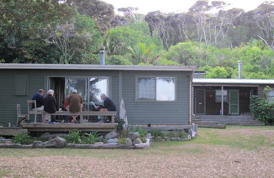 Little Barrier Island bunkhouse and Ranger's Flat.