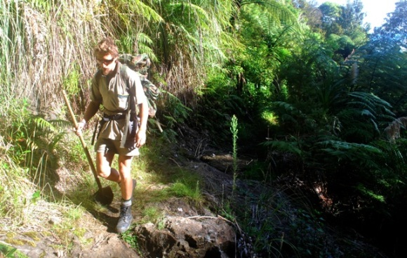 Oliver Knox on Six Foot Track in the Waima Ranges.