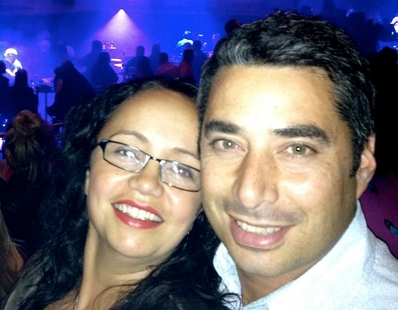 Huia and her partner at the Prince concert.