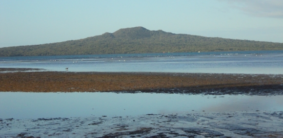 Rangitoto Island from the mainland.