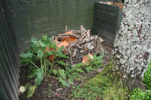 Jane and Magda's bug hotel.