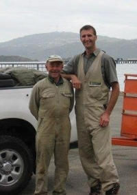 Rangers Shane and Keith on Matiu/Somes Island.