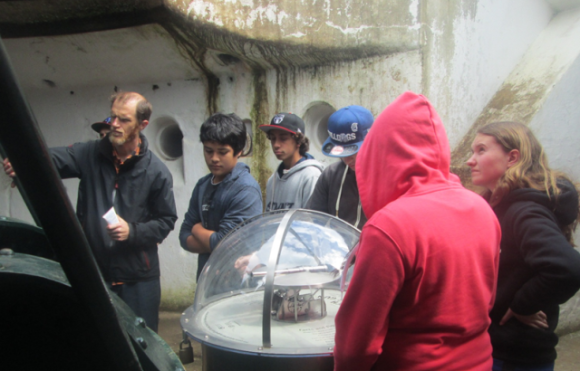 Students being taught about the history of the area.