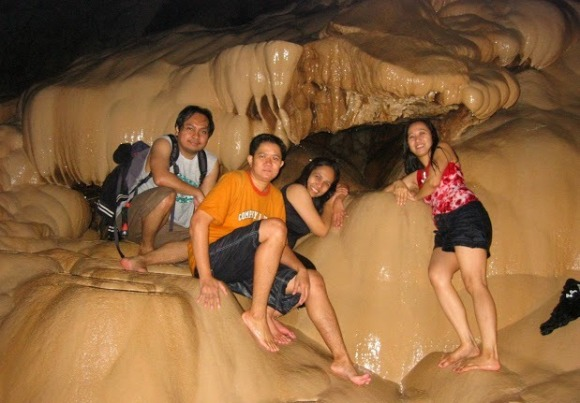 Caving in Sumaguing Cave at Sagada, Philippines.