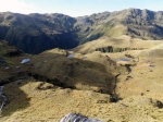 View of Lake Morgan Hut from above.