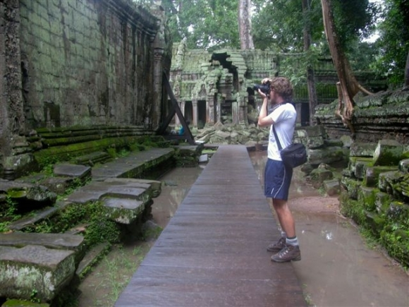 Nick at Ta Prohm, Cambodia.