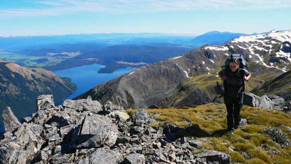 Most scenic stoat trapline in this neck of the woods–along the top of the St Arnaud range.