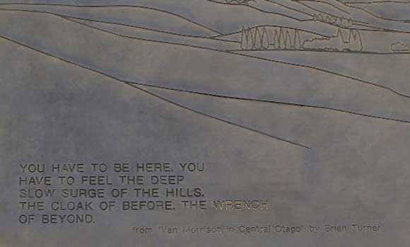 Brass plaque with Van Morrison quote. Photo: dubh | CC BY-NC 2.0.