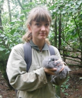 Naomi Muhlbacher, Islands hold a Chatham Petrel chick.