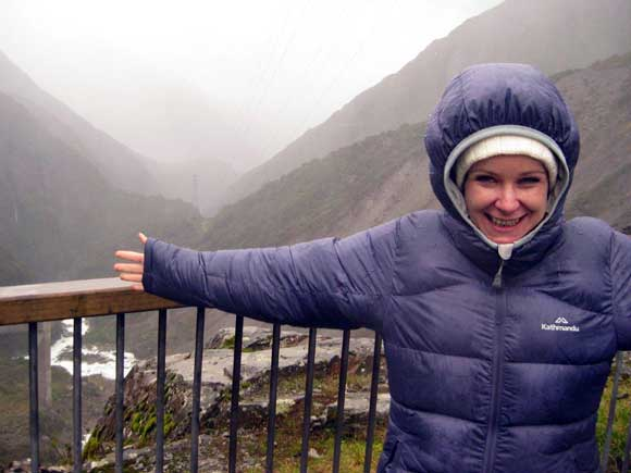 Almost getting blown out of Arthur's Pass National Park.