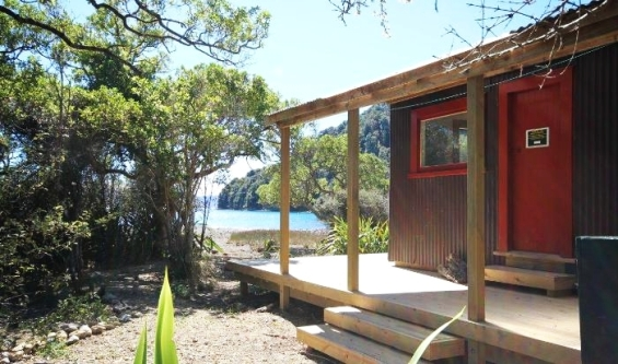 The upgraded Matai Bay Hut.