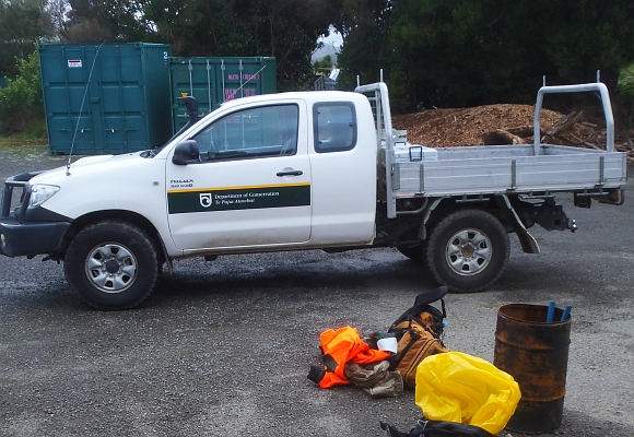 A DOC ute before being loaded up with gear.