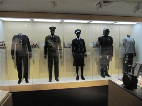 Collection of Corrections' uniforms over the years.