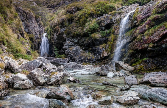 Routeburn Falls. Photo copyright: John Strother. All rights reserved.