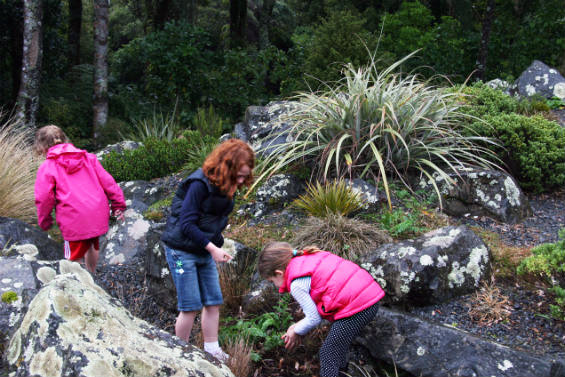 Kid's exploring Otari-Wilton's Bush.