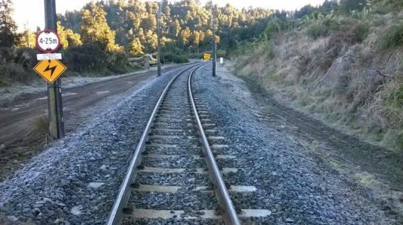 Stones on the train track. Photo: Stephen Moorhouse.