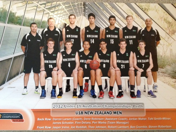 The under 18 New Zealand men's basketball team.