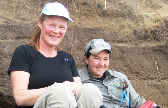 Ranger Mel and Andrea Crawford on Boulder Beach.