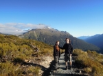 Lukasz and his wife Anna enjoying the mountain tops