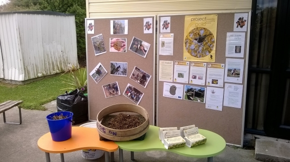 DOC's display at the planting day.