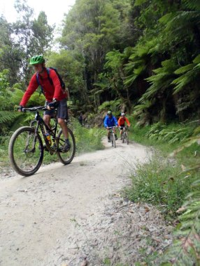 Riding the Mangapurua Track.