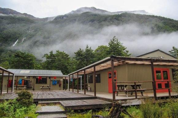 40 bunk Clinton Hut, Clinton Valley, Milford Track. Photo: Elizabeth Carlson ©