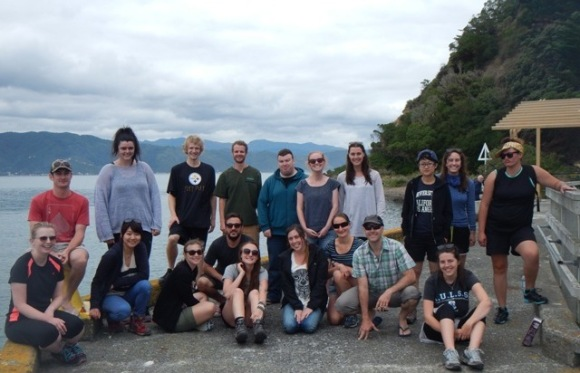 The DOC interns on Matiu Somes Island.