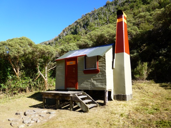 The finished exterior of Poet Hut.