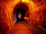 Rail tunnel, Karangahake Gorge.