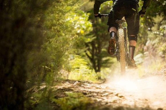 Mountain biking on the Wakamarina Track. Photo: Caleb Smith ©