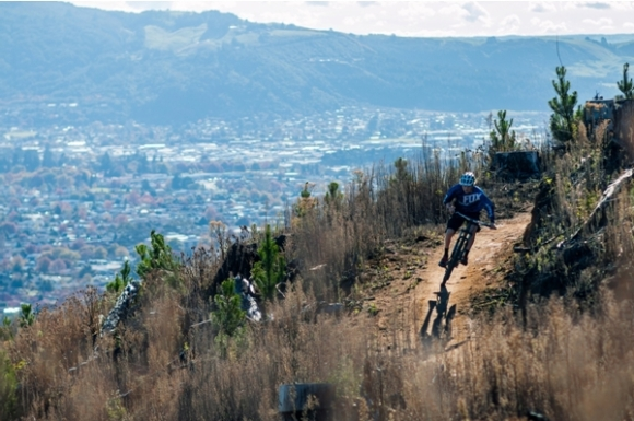 Mountain biker on a trail near Rotorua. Photo: John Colthorpe/Eivomedia.
