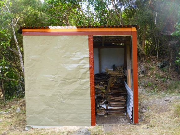 The wood shed at Poet Hut after maintenance.