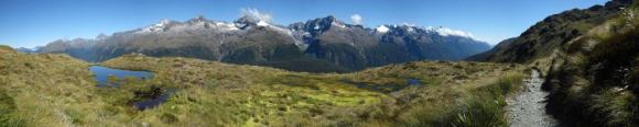 One of the impressive mountainous views along the Routeburn Track. Photo: Shelley Hersey.