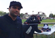 Abhishek Dixit with a drone.