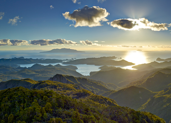 View from Hirakimata/Mt Hobson, Great Barrier Island. Photo copyright: Andris Apse. DOC USE ONLY.
