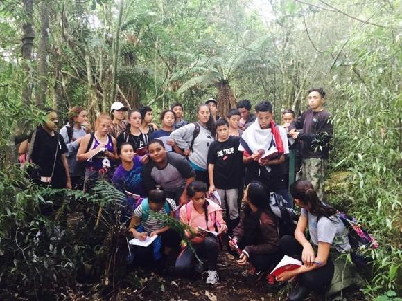 Te Wharekura o Tauranga Moana students.