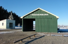 Wederburn Station buildings in winter. Photo: DOC.